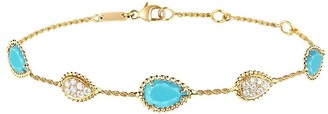 Boucheron 18kt yellow gold diamond Serpent Boheme bracelet