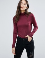 Brave Soul Roll Neck Top