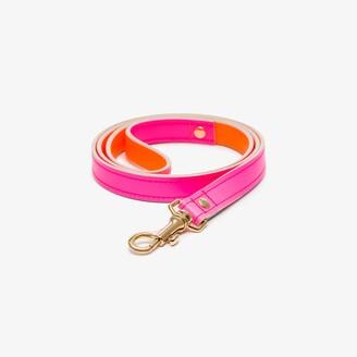 Black & Brown pink and orange Jamie leather leash