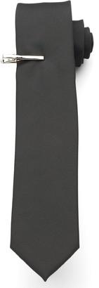 Van Heusen Men's Iridescent Skinny Tie with Tie Bar