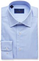 David Donahue Men's Regular-Fit Two-Tone Check Dress Shirt