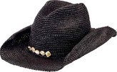 San Diego Hat Company Men's Crochet Raffia Cowboy Hat with Beaded Trim RHC1080