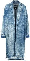 MSGM acid wash denim coat