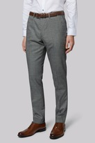 Moss Bros Skinny Fit Black and White Check Trousers