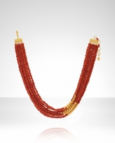 Women's Multi-Strand Coral Necklace