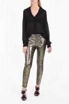 RTA DENIM Lucy Metallic Skinny Trousers