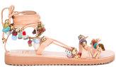 Mabu 'Amazonite' boho sandals