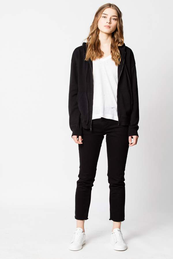 Zadig & Voltaire Sixtine Co Skull Camou Strass Cardigan