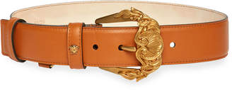 Versace Barocco Buckle Leather Belt