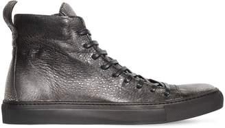 John Varvatos High Top Leather Sneakers