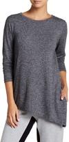 Joe Fresh Softy Long Sleeve Asymmetrical Hem Knit Tee