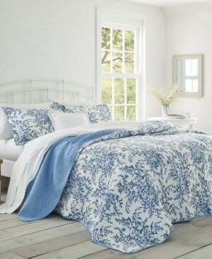 Laura Ashley Twin Bedford Quilt Set Bedding