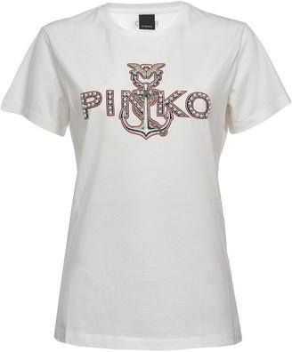 Pinko embellished logo T-shirt