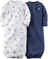 "Carter's Baby Girls' ""My Dog, My Bike"" 2-Pack Gowns"