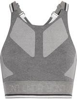 LNDR - Glide Mesh-trimmed Stretch-knit Sports Bra - Gray