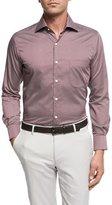 Peter Millar Single Flame Cotton Sport Shirt, Wine