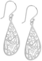 Giani Bernini Filigree Teardrop Drop Earrings in Sterling Silver, Created for Macy's