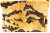 Hayward tiger print Bobby clutch - women - Calf Suede/Silk Velvet - One Size