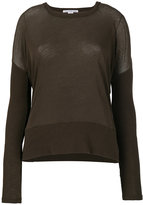 James Perse contrast rib sweater
