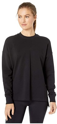 Manduka Envelope Sweatshirt (Black) Women's Clothing