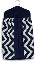 Baby Doll Bedding Baby Doll Minky Chevron Diaper Stacker, Navy