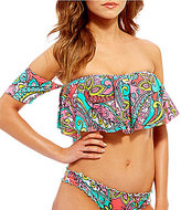 GB Paisley Off the Shoulder Top