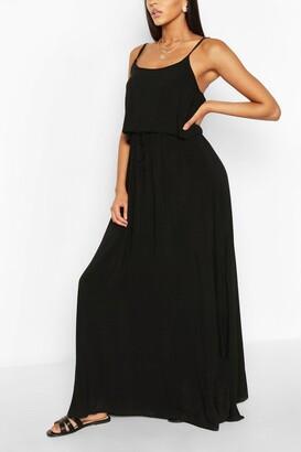 boohoo Strappy Double Layer Maxi Dress