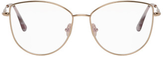 Tom Ford Gold Soft Cat-Eye Glasses