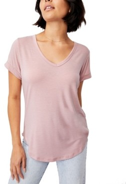 Cotton On Women's Karly Shorts Sleeve V Neck Top