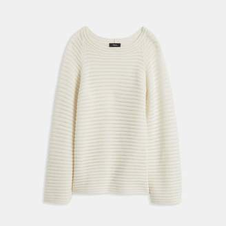 Theory Cashmere Striped Pullover