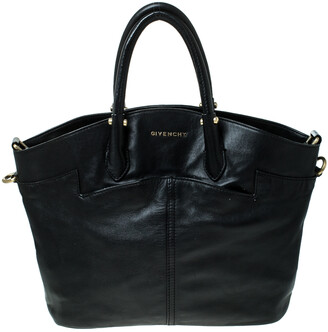 Givenchy Black Leather Front Pocket Satchel