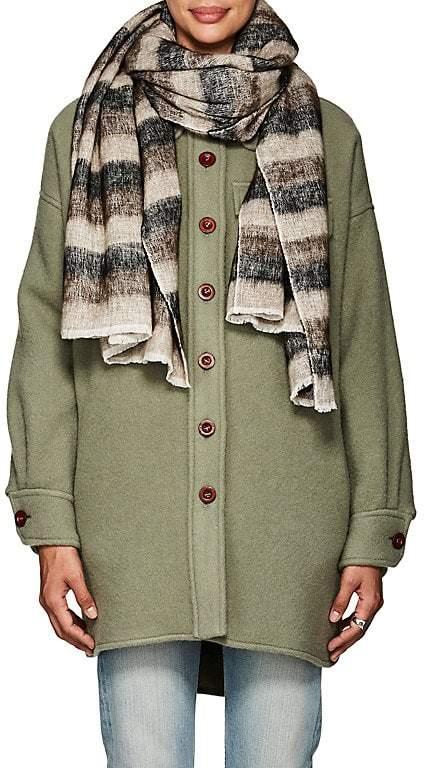 Denis Colomb Women's Hokkaido Kera Striped Cotton-Yak Wool Stole