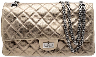 Chanel Bronze Quilted Calfskin Leather 2.55 Reissue Classic 225 Flap Bag