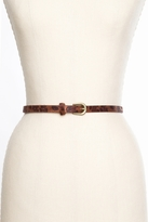 Nasty Gal Leopard Skinny Belt - Bronze