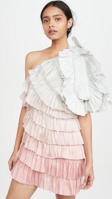 Aje Salt Lake Plume Dress