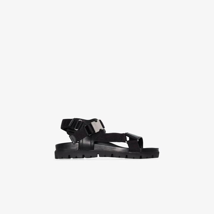 Prada Black Buckled Strap Sandals