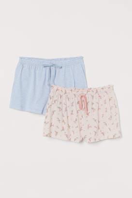 H&M 2-pack pyjama shorts