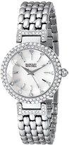 Badgley Mischka Woman's BA/1345WMSB Swarovski Crystal-Accented Watch with Silver-Tone Bracelet
