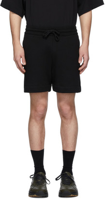 Dries Van Noten Black French Terry Lounge Shorts