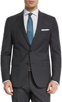 BOSS Huge Genius Mini-Check Slim-Fit Basic Suit, Navy