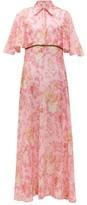 La Costa Del Algodón La Costa Del Algodon - Fedora Saskia-print Cotton-muslin Maxi Shirtdress - Womens - Pink Print