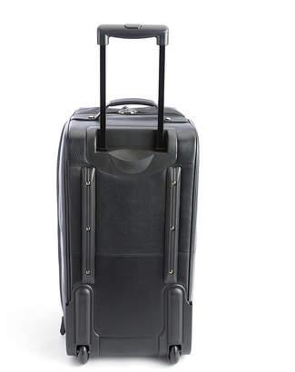 Royce Leather Royce New York Pebbled Leather Rolling Weekender Duffel Bag