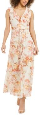 Karl Lagerfeld Paris Floral-Print Wrap Dress