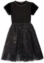 Imoga Little Girl's & Girl's Lauren Faux Fur-Trim Dress