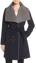 Sam Edelman Women's Melton Belted Double Face Wrap Coat
