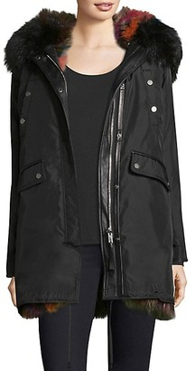 Nicole Benisti Belleville Reversible Fox Fur-Lined Parka