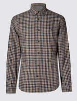 Marks and Spencer Pure Cotton Tailored Fit Gingham Shirt