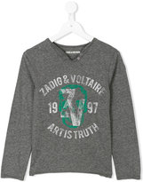 Zadig & Voltaire logo print long sleeve T-shirt