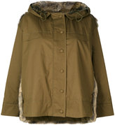 Stella McCartney Faux-Fur trimmed parka - women - Cotton/Modacrylic/Polyester - 38