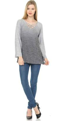 Cubism Ombre Criss-Cross Sweater